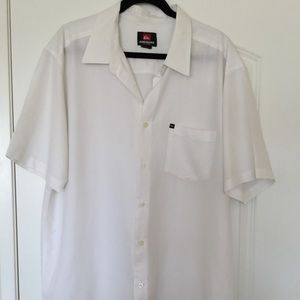 Quiksilver White Mens Shirt XL
